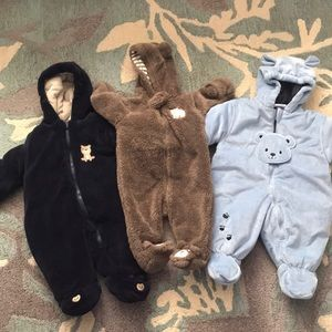 Warm one pieces winter jackets for baby